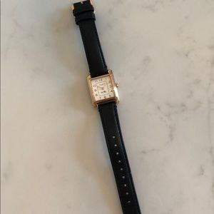Coach Black Leather Watch